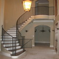 Ornamental Iron Staircase and Rail