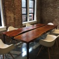 Steel & Red Oak Slab Conference Table