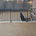 Curved patio rail 1